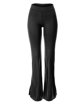 Pants ANN with a slit Black XL
