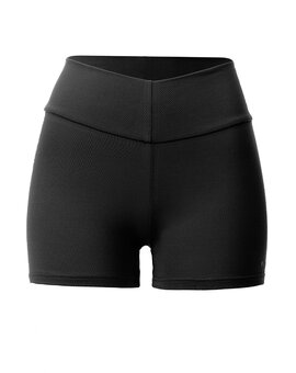 High Yoga Shorts Schwarz M