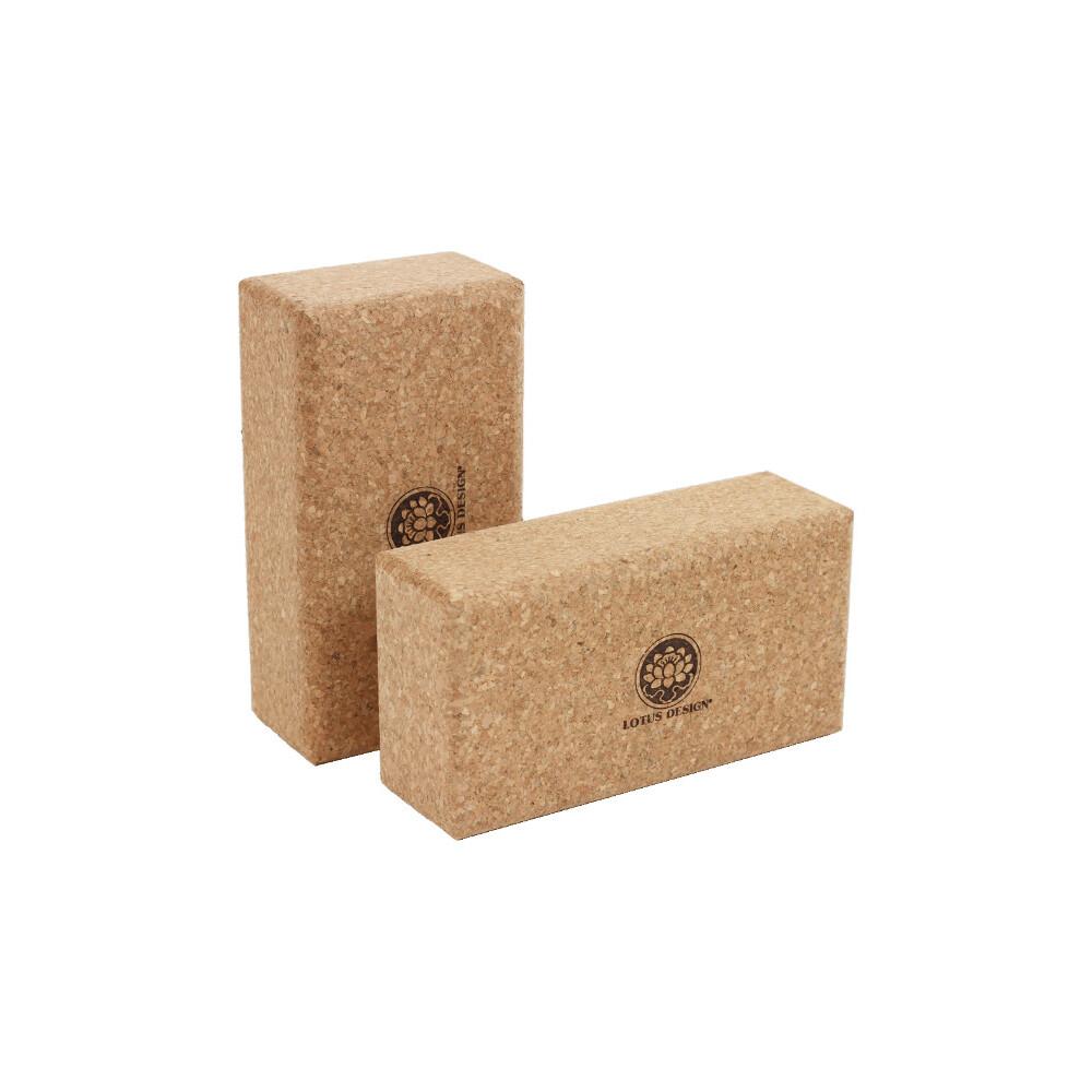Yogazubehör online kaufen: Yogablock Lotus Kork 23 x 12 x 7,5