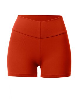 High Yoga Shorts Terracotta M