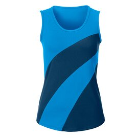 Zweifarbiges Top AquaBlau/NavyBlau XL