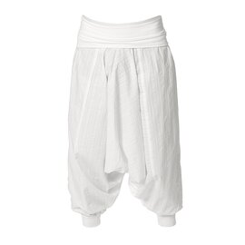 Sarouel Pants Unisex White Striped S