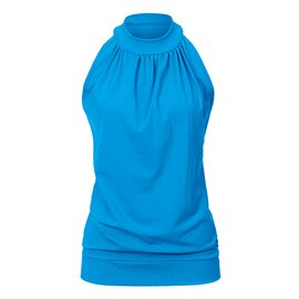 High Neck Top ANN AquaBlue M