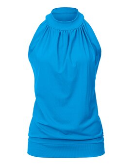 High Neck Top ANN AquaBlue L