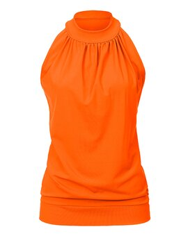 High Neck Top ANN SignalOrange L
