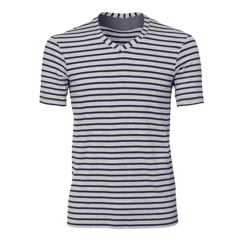 Yogazubehör online kaufen: V-Shirt YOGA Grey/Blue L