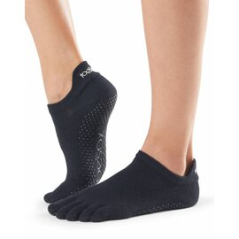ToeSox Full-Toe LOW RISE Black M