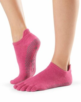 ToeSox Full-Toe LOW RISE Raspberry M