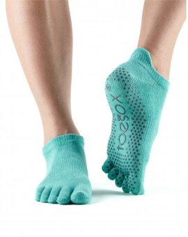ToeSox Full-Toe LOW RISE Aqua M