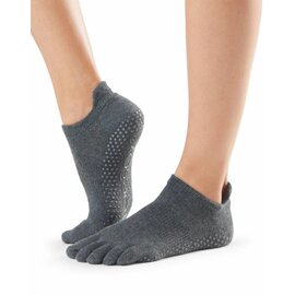 ToeSox Full-Toe LOW RISE CharcoalGrey M